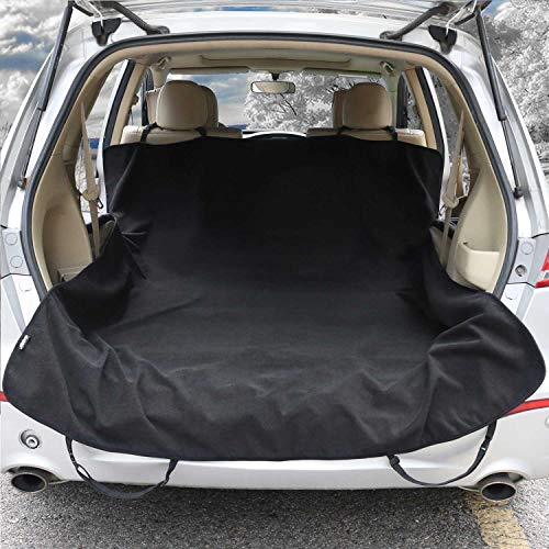 Waterproof Car Towel Seat Cover Pet Cargo Liner Cover for Dogs Universal Fit SUVs Sedans Vans - Machine Washable,Non-Slip, Black - Fitness after Outdoor Activities,Dog Park - Leader Accessories