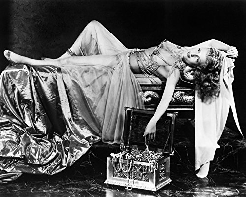 [Rita Hayworth in Salome iconic sexy image revealing costume lying on bed 16x20 Canvas] (Revealing Costumes)