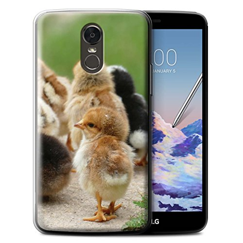 (STUFF4 Gel TPU Phone Case/Cover for LG Stylus 3/Stylo 3/K10 Pro/Chick/Chicken Design/Cute Pet Animals Collection)