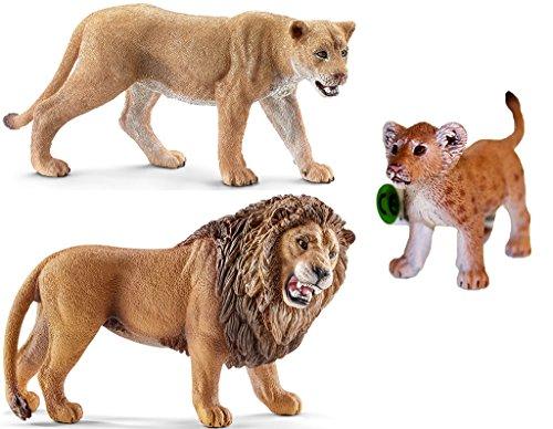 Schleich Wild-Life Löwen-Familie - 3 Figuren-Set - 14712 14726 82822
