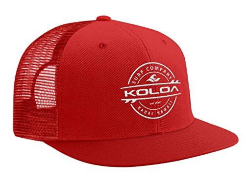 Joe's USA Koloa Surf - Thruster Surfboard Logo Mesh Back Trucker Hats in 15 Colors.