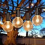 50Ft String Lights, G40 Globe String Lights with 53