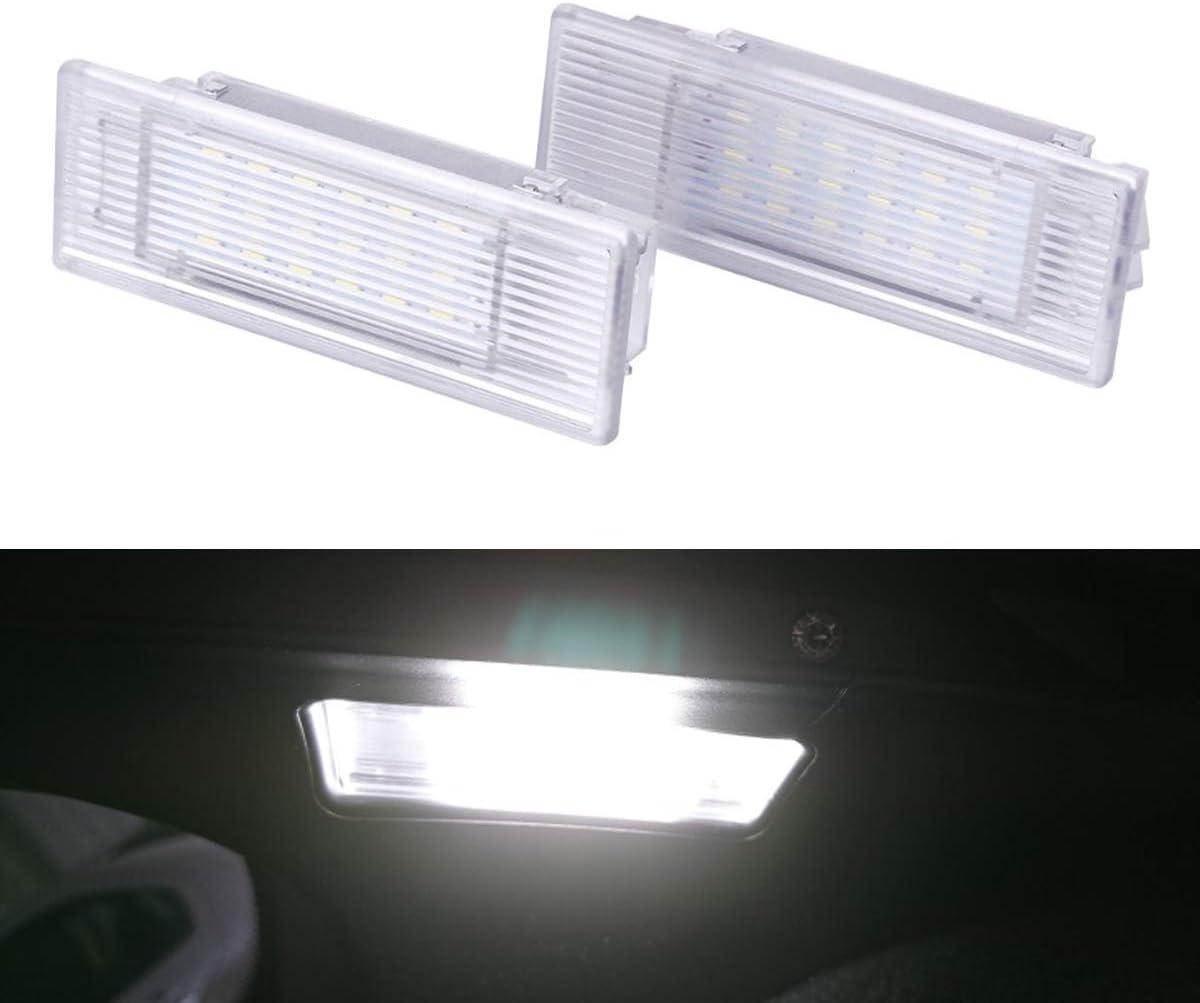 Yuguiyun Auto Led Kofferraumbeleuchtung Fußraumbeleuchtung Innenraumbeleuchtung 24led Smd Bright Weiß Lampen Leuchtmittel Für 5 Series E39 E60 F10 M5 E61 F11 Gt 2pcs Auto