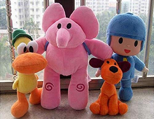 - Pocoyo Plush 14cm-30cm Pocoyo Loula Elly Pato Doll Stuffed Animals Soft Figure Anime Collection Toy --4PC/Set