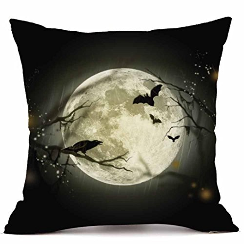 Halloween Pillow Cases,SUPPION Happy Halloween Pillow Cases Super Cashmere Sofa Cushion Cover Home Decor(18 kinds of patterns) (G)