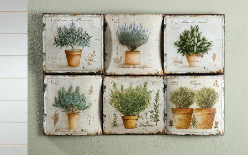 Wanddeko Garten metal wall plaque lavender garden decoration nostalgia amazon co