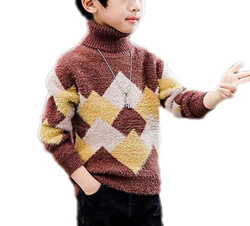 MZjJPN Leisure Knitting Boy Sweater 2018 Winter Thicken Keep Warm Kids Sweater Age 4-14 Year Old 2 4T