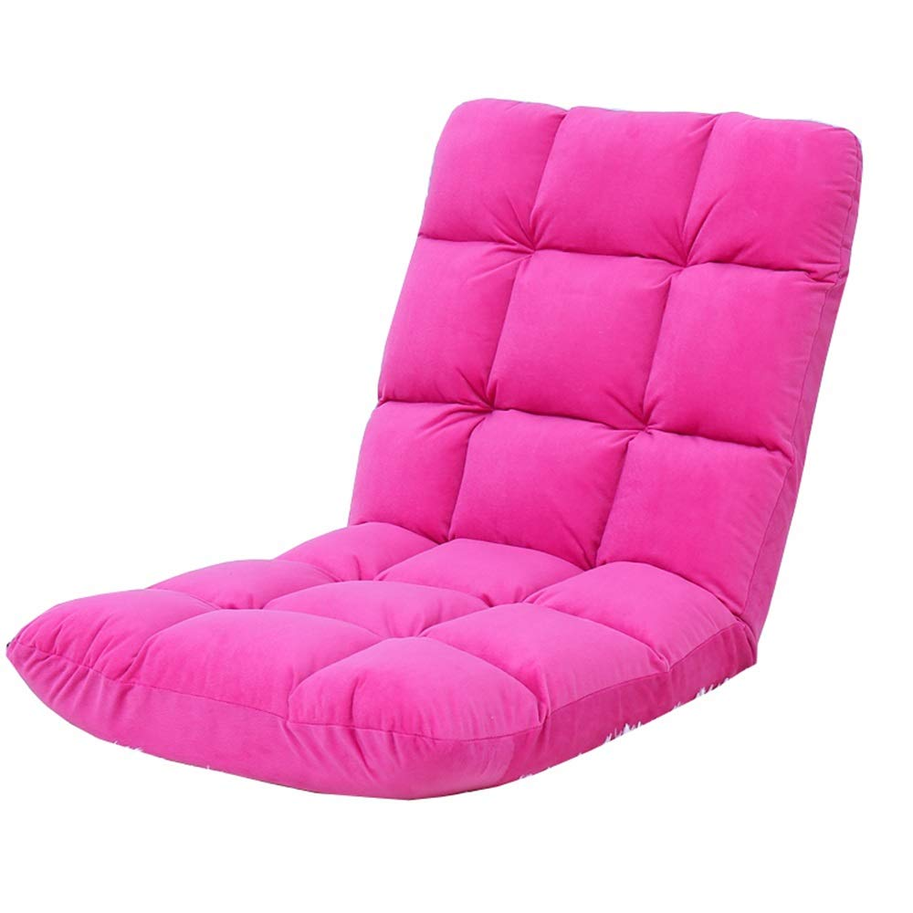 pink Red LJFYXZ Floor Chair Computer Chair 5-Speed Adjustment Ergonomic Design Single Lounge Chair Suitable for Bedroom Living Room Bearing Weight 120kg 110x52x13cm (color   bluee)