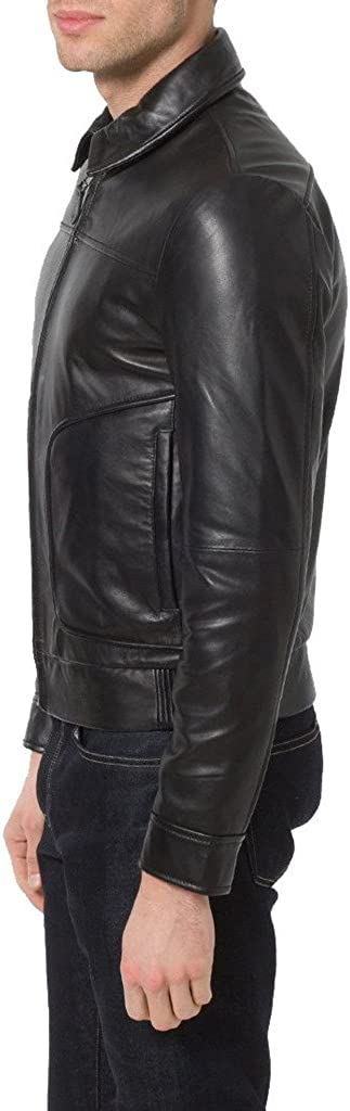 Mens New Genuine Cow Leather Designer Mens Motorcycle Biker Jacket KC155