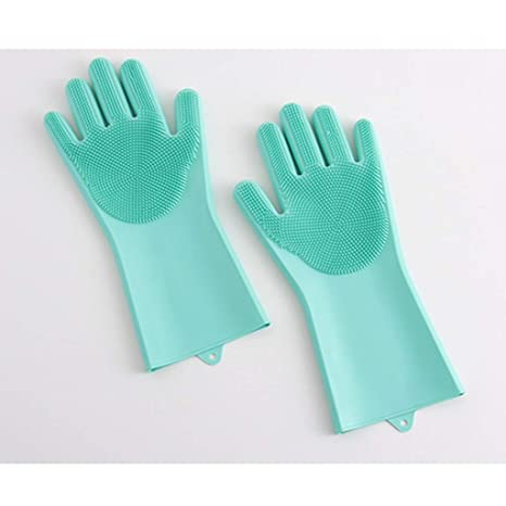 stable quality buy cheap reasonably priced OHGQY Multi-functional Silicone Gloves, Thick Car Wash ...