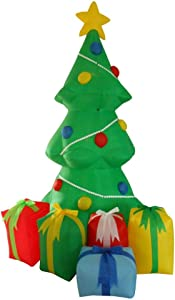BZB Goods 5 Foot Inflatable Christmas Tree with Gift Boxes Yard Garden Decoration LED Lights Decor Outdoor Indoor Holiday Decorations, Blow up Lighted Yard Decor, Lawn Inflatables Home Family Outside