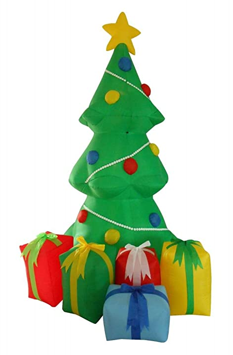 5 foot inflatable christmas tree with gift boxes yard garden decoration - Christmas Tree Boxes
