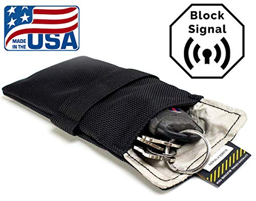 Signal Tactics Key Fob Faraday Bag - Military-grade auto and anti-hacking security bag! Shield your key fob from duplication and the auto