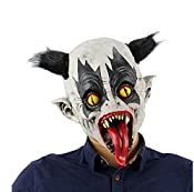 This bat clown mask, which is toothy and creepy, can perfectly help you add horror atmosphere on Halloween! Features: Toothy bat clown mask with black wig, perfect for creating horror effect. Suitable for Halloween, costume party, April Fool's Day, e...