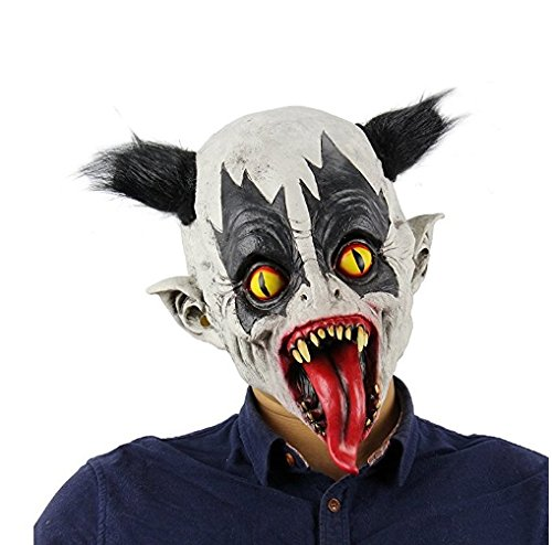 Scary Halloween Customes (Scary Halloween Animated Mask Evil Variant Zombie Moster Devil Mask for Halloween Cosplay Party Custome Props)