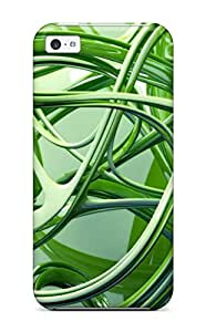 High Quality DBSBrWV9961ZnFnd Contrast Fractals Textures Colors Shapes Shades Artistic Depth Cgi Green Abstract Other Tpu Case For Iphone 5c