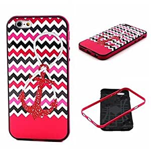 Anchor Pattern Back Case Cover for iPhone6 Protective Smartphone Shell