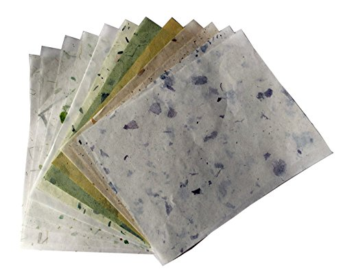 10 Sheets 8.5 x11in Mulberry Paper Art Collage Watercolors Tissue Invitation Card (Watercolor Art Card)