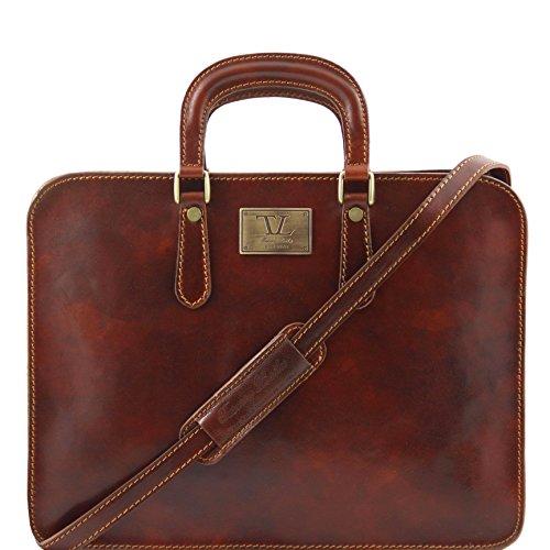 81409614 - TUSCANY LEATHER: ALBA - Damen Aktentasche aus Leder, braun