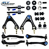 94 accord rear lower control arms - DLZ 14 Pcs Suspension Kit-2 Front 2 Rear Upper Control Arm Assembly, 2 Lower Ball Joint, 4 Tie Rod End, 2 Sway Bar, 2 Strut Mount Kits for 1997 1998 1999 Acura CL, 1994 1995 1996 1997 Honda Accord