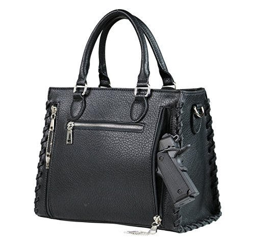 Conceal Black Purse Carry Concealed Lady Weapon YKK Laced Locking Concealed by Satchel Ann 7wxPq5SA
