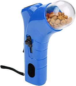 Yutiny Pet Treat Launcher Dog Food Catapult Puppy Snack Shooter Feeder Pet Training Food Dispenser Toys Dog Interactive Toys (Blue)