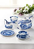 Spode Blue Italian Teacup and Saucer, Set of 4