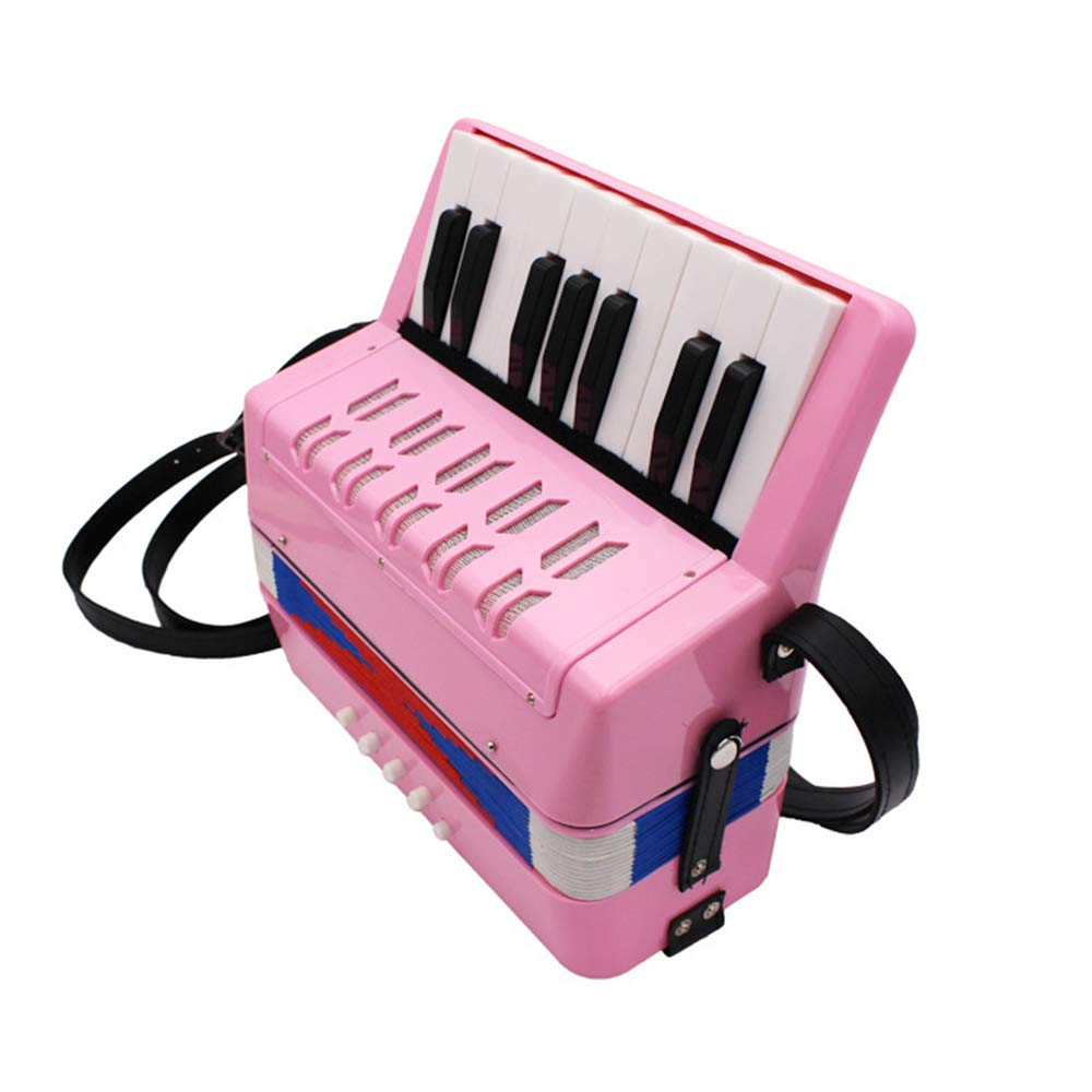 TECHLINK Musical Accordions Toy Childern Accordion Portable 17 Keys 8 Bass Musical Instrument Promotes Education Children's Gift