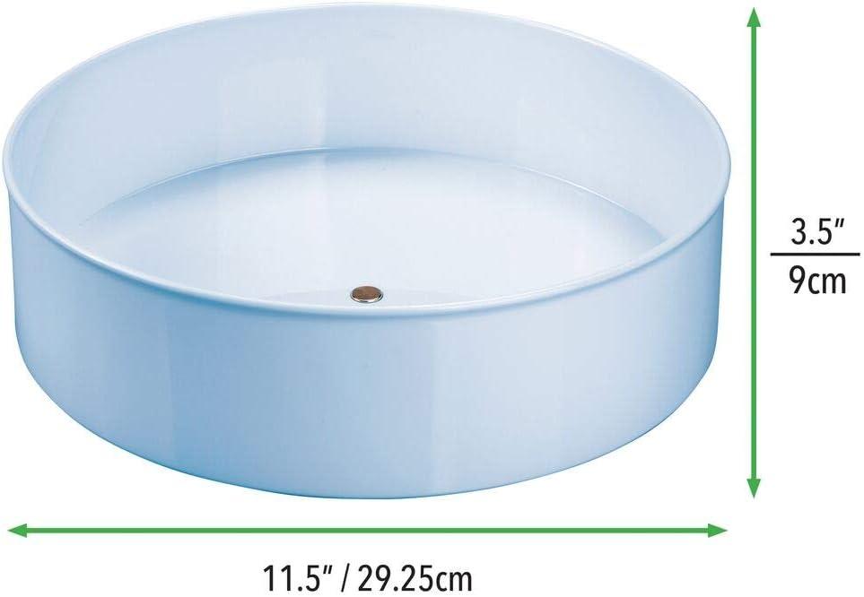 mDesign Bandeja rotatoria para ordenar cosm/éticos Cesta organizadora con base giratoria 360/º Organizador de maquillaje para el cuarto de ba/ño o el tocador amarillo claro