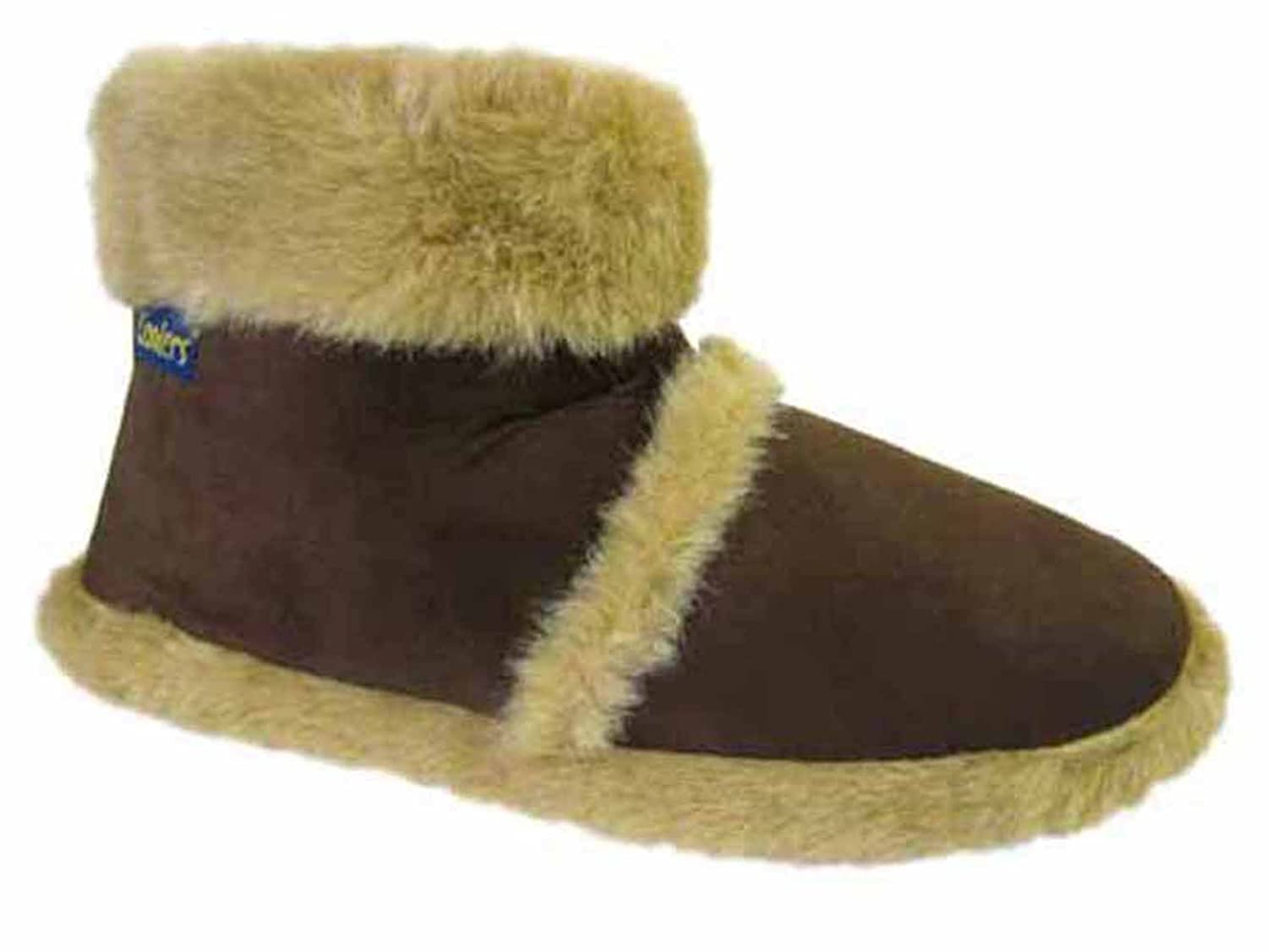 Womens Coolers Winter Faux Fur Lined Fairisle Slipper Boots  97PXVTVER