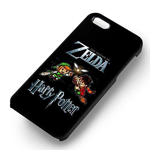 Zelda vs Harry Potter Snitch pour Coque Iphone 6 et Coque Iphone 6s Case (Noir Boîtier en plastique dur) O6W7TN