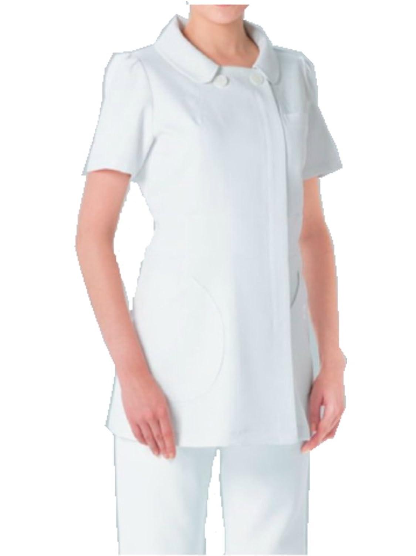 (ナガイレーベン) NAGAILEBEN 女子 ケイタマルヤマ 上衣 半袖 ドクターウェア 白衣 KM-2152 B00O5X65VQ ホワイト M