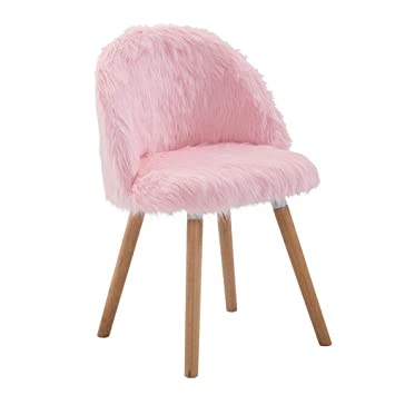 chaise de bureau rose scandinave fille