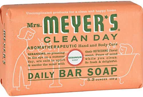 Mrs. Meyer's Clean Day Bar Soap - Geranium 5.3 oz (150 grams) Bar(S)