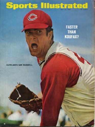 Sports Illustrated May 23 1966 Sam McDowell/Cleveland Indians on Cover, Mario Andretti/Indy Indianapolis 500, Boo Gentry/Kentucky Derby, San Francisco Giants, Gary Player/PGA