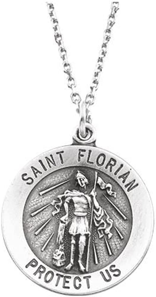 Florian Medal FB Jewels 925 Sterling Silver 15mm Round St