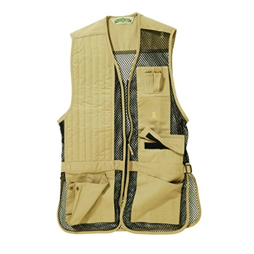 Bob-Allen Shooting Vest, Right Handed, Khaki, Small