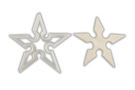 Ninja Shuriken Star molde para galletas: Amazon.es: Hogar
