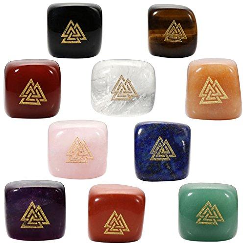 top-plaza-7-chakra-healing-crystals-tumbled-gemstones-engraved-ancient-nordic-viking-symbol-valknut-