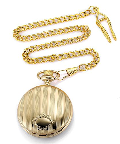 Carrie Hughes Vintage Golden Quartz Pocket watch with Chain CH98 by Carrie Hughes (Image #5)