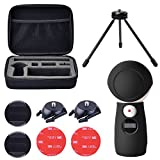 Koroao Carrying Case and Silicone Cover Kit for Samsung Gear 360 2017 Edition Camera, including 1/4 Screw Buckle Mount, Curved Flat 3M Adhensive Pads and Tripod