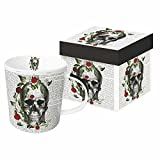 "Paperproducts Design Mug In Gift Box Featuring Skull & Roses Design, 5 x 4 x 4"", Multicolor"