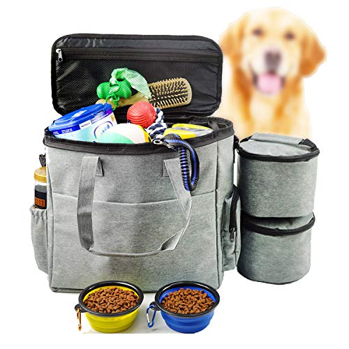 Gimehome Dog Travel Bag Airline Approved Travel Set for Dogs of Stores All Your Dog Accessories – Includes Travel Bag…