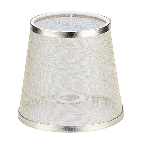 Cleeacc Creative Transparent Lamp Shades for Table Lamps Small Clip on (4x6x5.5in) Chandelier Handmade Modern E14 Screw Lampshade Classic Simple Style Crystal Candle Glass Lamp Shade Cloth Design 1