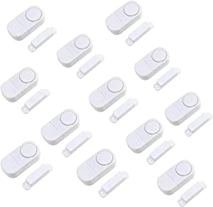 Door Window Alarm, Home Security Wireless Magnetic Sensor Burglar Anti-Theft Alarm (Pack of (12))