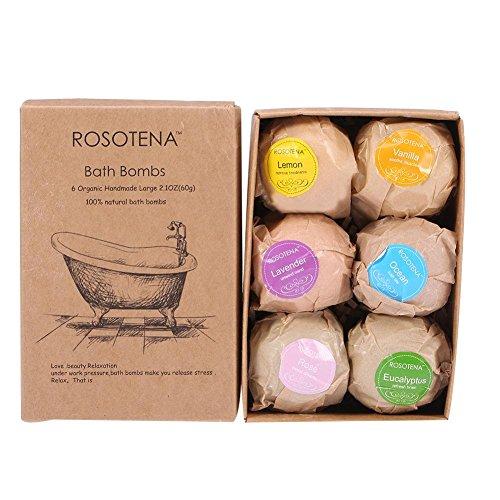6x60g baño hecho a mano conjunto de bombas Hidratante Spa aromaterapia relajación baño sal (Bola de baño)