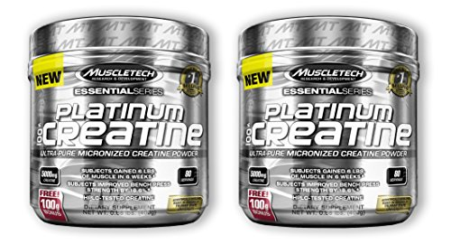 MuscleTech Platinum 100% Creatine (2 Pack)