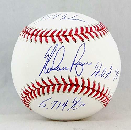 Ryan Ball Nolan (Signed Nolan Ryan Ball - Rawlings OML W 3 Inscriptions AI Verified - Autographed Baseballs)
