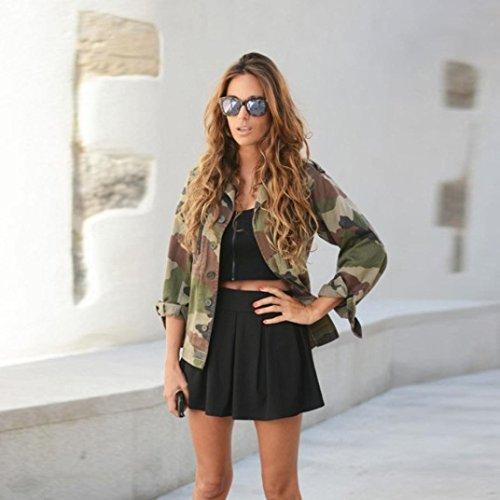 de Veste Manteau Camouflage Veste Vestes Femmes Camouflage D'automne Rue D'hiver Covermason Blouson Coat Casual Femme Femmes vddBTq