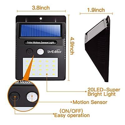 lIvEditor 20 LED Solar Lights Outdoor